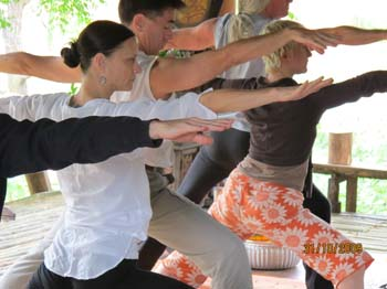 Thai Yoga Students practice Yoga daily